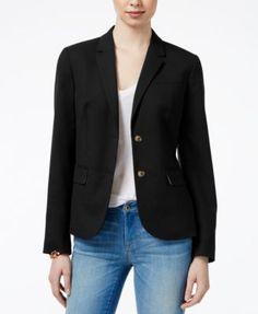 TOMMY HILFIGER Tommy Hilfiger Two-Button Blazer, Only At Macy'S. #tommyhilfiger #cloth # jackets