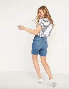 weekend sales High Waisted Shorts, High Waist Jeans, Cut Off Jeans, Shop Old Navy, Old Navy Women, Jean Shorts, Mom Jeans, Buttons, How To Wear