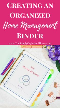 Are you struggling to stay organized? I was too! Until I decided to get all of those thoughts swirling around in my head down on paper and my home management binder was born! It's filled with printables that help me take control of my days!