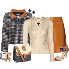 Brown, Navy and Winter White by striplingmom-1 on Polyvore featuring мода, Issa, Chanel, MiH Jeans, Accessorize, La Mer, Wallis and Feather & Stone