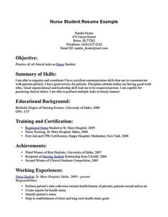 A resume format is an on line nursing student skills for resume support that provides resume companies at no cost. These sites provide a large assortment of Student Nurse Resume, Lpn Resume, Registered Nurse Resume, Nursing Students, College Students, Good Objective For Resume, Resume Objective Examples, Resume Examples, Resume Ideas