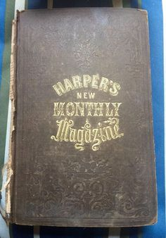 Antique 1859 Book HARPER'S NEW MONTHLY MAGAZINE Hard Cover- December- Civil War http://spain-travel-now.info/sn/re/?query=181912873102 …