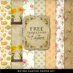 Easter flowers fairy my nearestore pinterest work gifts and freebies paper kit vintage easter far far hill negle Images