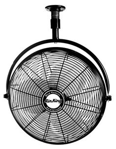 Allen roth 18 in 3 speed oscillation fan jp18eb3 pinterest air king 9320 industrial grade ceiling mount fan with black finish aloadofball Image collections