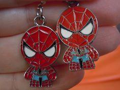 Spiderman, Spiderman Earrings, Superhero Jewelry, Superhero by laminartz on Etsy
