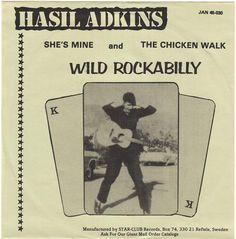 """Hasil Adkins 1980 7""""."""