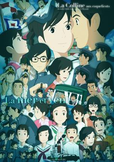 Kokurikozaka Kara (From Corn Poppy Hill) Image - Zerochan Anime Image Board Studio Ghibli Art, Studio Ghibli Movies, Hayao Miyazaki, Up On Poppy Hill, Poster Anime, Studio Ghibli Characters, Japanese Animated Movies, Video Game Cosplay, Mandala