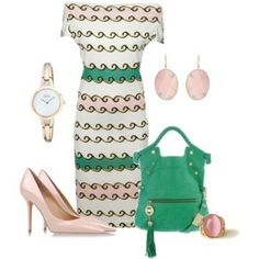 Pink and Green Scroll