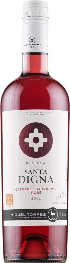 Torres Santa Digna Cabernet Sauvignon Rosé 2014 roseviini alko 9,99 e viini-lehti löytö rose