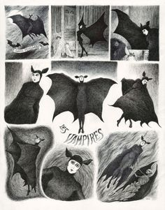 """Les Vampires, de Louis Feuillade (1915)""~Illustration by Drazen Kozjan"