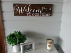 Items similar to Welcome to our home rustic timber/wooden sign - Made in Australia on Etsy Wooden Signs, Ash, Sweet Home, Australia, Rustic, How To Make, Wood Signs, Grey, House Beautiful