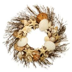 Natural Shell Wreath - BedBathandBeyond.com