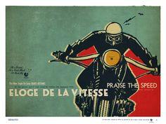 'l'homme à la moto' ELOGE DE LA VITESSE© -deluxe poster by lorenzo eroticolor