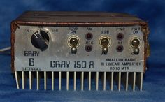 Gray Electronics GRAY 150A Amateur Radio Bi Linear Amplifier 80-10 meters #GrayElectronics