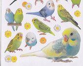 Kawaii Japan Sticker Sheet Assort: Big Parakeets  https://www.etsy.com/listing/106085664/kawaii-japan-sticker-sheet-assort-big?ref=shop_home_active_11