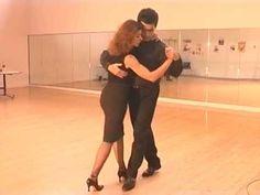 ▶ Cours de tango Argentin Milonga (3/9) - Pas de bases dansé avec contre temps - YouTube