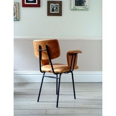 1950s French Leather 'Flying Duck' Chair (No.1)