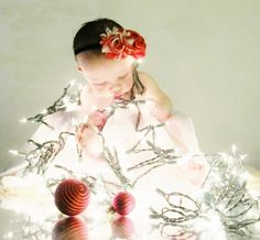 Christmas lights!  #baby #pictures #christmas