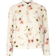 Floral Print Blouse from Zara Floral Bomber Jacket, Flight Bomber Jacket, Printed Bomber Jacket, Printed Blazer, Print Jacket, Bomber Jackets, Blazer Jacket, Off White Blazer, Off White Jacket