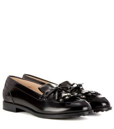 TOD'S Leather Loafers. #tods #shoes #flats