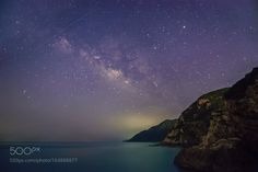 Shooting stars and the Milky Way mountain and the  Very lucky to get a meteor…