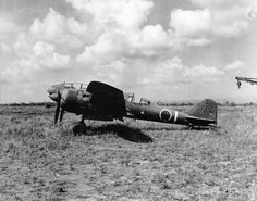 At Clark Field : captured Japanese reconnaissance aircraft Ki-46-III 'Dean' (army scout type 100).