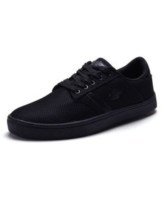 Black Lace-Up Sneaker