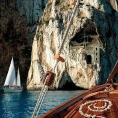 Porto Flavia, a sea harbor located near Nebida in the Iglesias comune of Italy.