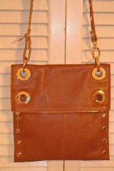 Hammitt Los Angeles - Montana Brown Cognac Gold Leather Crossbody Bag - NWT!