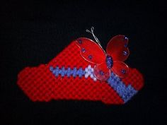 Plastic Canvas Red Hats Pin