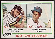 1978 #topps batting leaders rod carew/dave #parker #201 #baseball card, View more on the LINK: http://www.zeppy.io/product/gb/2/152110612861/