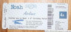 Aviation Kids Party - DIY Invite  http://anita-brizzi.blogspot.com.au/2015/03/aviation-theme-birthday-party.html