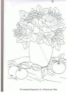 Pintura em Tecido Passo a Passo: Rosas e laranjas