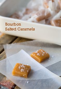 Best-Ever Salted Caramel Candy Recipe with a hint of Bourbon!  #caramel #saltedcaramel #holiday #homemade