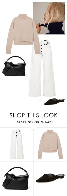 """""""Untitled #91"""" by stylebycecilia ❤ liked on Polyvore featuring Rejina Pyo, Loewe and Manolo Blahnik"""