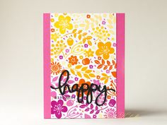 Floral background card by Sovushka