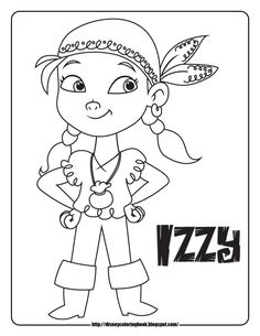 jake and the never land pirates coloring pages coloring sheets izzy
