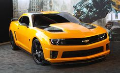 Bumblebee's Camaro In 2007, Chevrolet's fifth-generation Camaro was selected to represent Bumblebee in theTransformers franchise, reintroducing the muscle car. In case you were wondering who Bumblebee is, here is a short description: Bumblebee is one of the main Autobot characters in the Transformers film series, which originally had the power of transforming itself into a Volkswagen Beetle. Later on, the company chose to change the car into a rally yellow Chevrolet Camaro