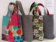 easy sew tote bag free pattern - Google Search