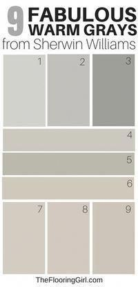 9 Amazing Warm Gray Paint Shades from Sherwin Williams warm gray and greige paint shades from Sherwi Greige Paint Colors, Bedroom Paint Colors, Exterior Paint Colors, Paint Colors For Living Room, Exterior House Colors, Paint Colors For Home, My Living Room, Gray Bedroom, Paint Colours