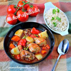 Tender and delicious chicken slowly simmered in seasoned tomato sauce - CHICKEN AFRITADA! Enjoy with some rice and drizzle the sauce all… Filipino Recipes, Asian Recipes, Filipino Food, Healthy Recipes, Pinoy Food, Filipino Dishes, Asian Foods, Detox Recipes, Great Recipes