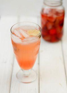 strawberry vodka ginger cooler, love