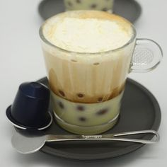 Try this delicious Nespresso coffee-based cocktail for a bit of a different treat. Espresso Shot, Chocolate Covered, Whipped Cream, Cocktails, Drinks, Nespresso, Cocoa, Pudding, Treats