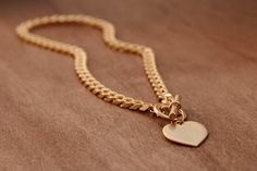 Gold NecklaceGold Heart CharmHeart Charm by TytunovichJewelry
