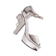 Image of chanel silver gun - Photobucket - Video and Image Hosting ❤ liked on Polyvore featuring shoes, pumps, heels, chanel, silver pumps, heel pump, silver heel pumps, chanel pumps and silver shoes