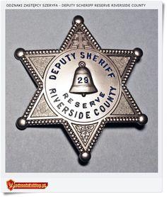 Deputy Sheriff RESERVE Riverside County Odznaka USA