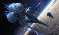 Elethill----Alien spaceship , Llia Yu on ArtStation at https://www.artstation.com/artwork/lzr6a