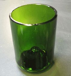 Recycled Wine Bottle Drinking Glasses - Tutorial - Glass With A Past Fire Polishing Wine Bottle Drinking Glasses