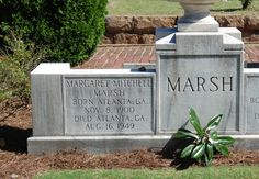 Margaret Mitchell, author of Gone With the Wind - her grave