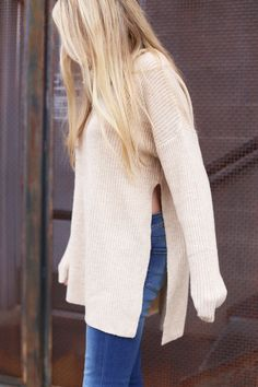 Flare jeans and chunky cutout sweater ... my favorite winter outfit!  These flare jeans are seriously my favorite and are so cheap!